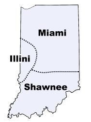 Map of Indiana tribes in the past. (Of course other tribes came as they were driven west.)