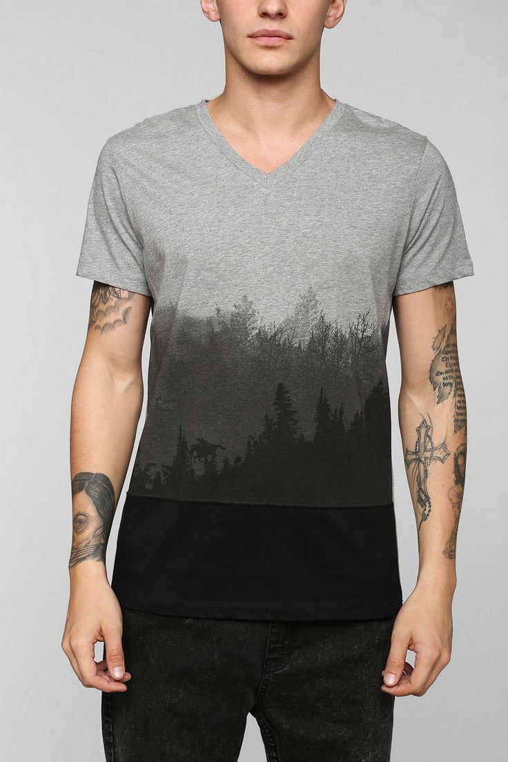 Tee Library Ombre Forest Tee - good idea, badly executed MENS