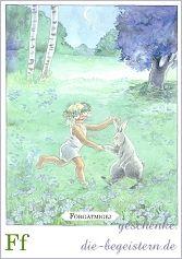 Postkarte Majas Alphabet [Ff]