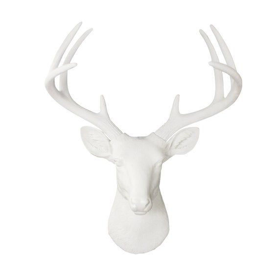 Large Faux Deer Head Free Shipping Wall Charmers Faux Taxidermy Resin Animal Head Ceramic Stag Taxidermy Buck Antler Mount Fauxidermy In 2020 Deer Head Decor Deer Head Wall Decor White Deer Heads