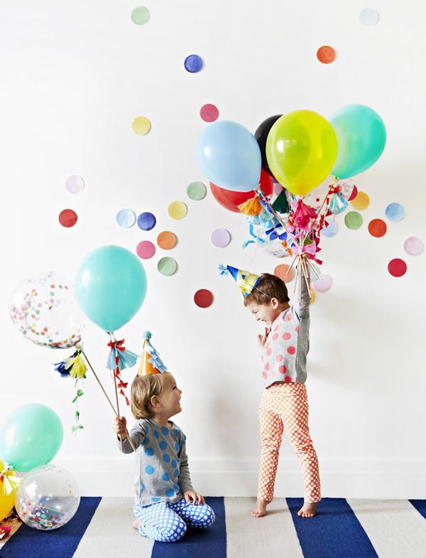 Fancy ballons and confetti party kits by Poppies for Grace (coming soon to Lark!) on TDF