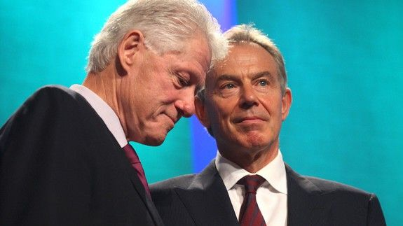 No this isnt a real conversation between Bill Clinton and Tony Blair