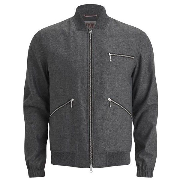 Lacoste Live Men's Casual Jacket - Grey ($115) ❤ liked on Polyvore featuring men's fashion, men's clothing, men's outerwear, men's jackets, grey, mens short jacket, mens lightweight jacket, mens jackets and mens light weight jackets