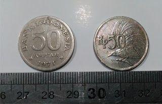 TOKO BARANG ANTIK DAN BEKAS RAHMA: UANG KUNO : KOIN Rp. 50,- TAHUN 1971
