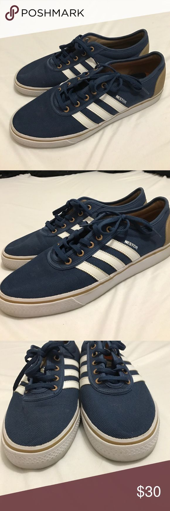Men's Adidas tennis shoes In great condition  with some wear on the back from jeans (see pics) size 11 Adidas Shoes