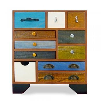 Hand Crafted Multi Coloured Chest Of Draws - from Cult Furniture UK