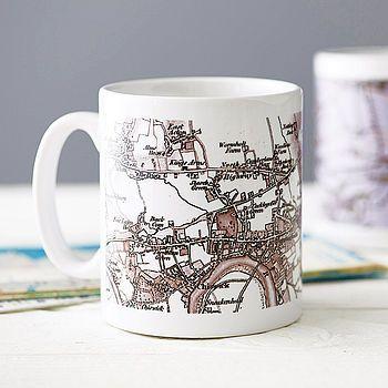 Travel & tea: Personalised Map Mug. But where to choose?