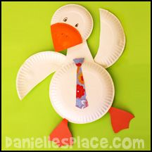 Gander Goose Paper Plate Craft www.daniellesplace.com
