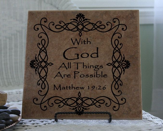 Vinyl decals for tiles vinyl decal bible scripture with god all things