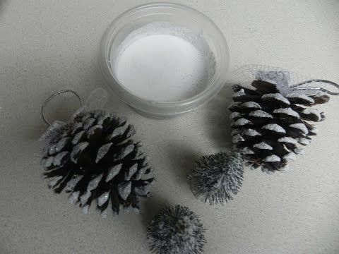 Manualidades para Navidad: Como hacer nieve artificial para decoracion de Navidad - YouTube