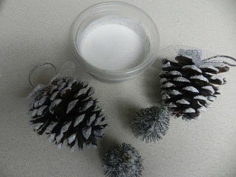 Manualidades para Navidad: Como hacer nieve artificial para decoracion de…
