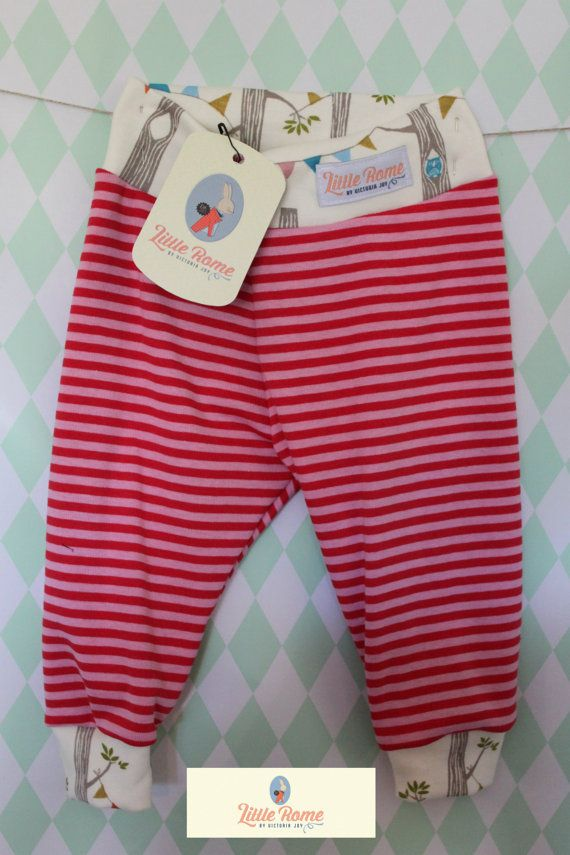 Little Rome's loose fitting baby pants, 100% Organic Jersey Cotton. SIZE 68, 6-9 months.