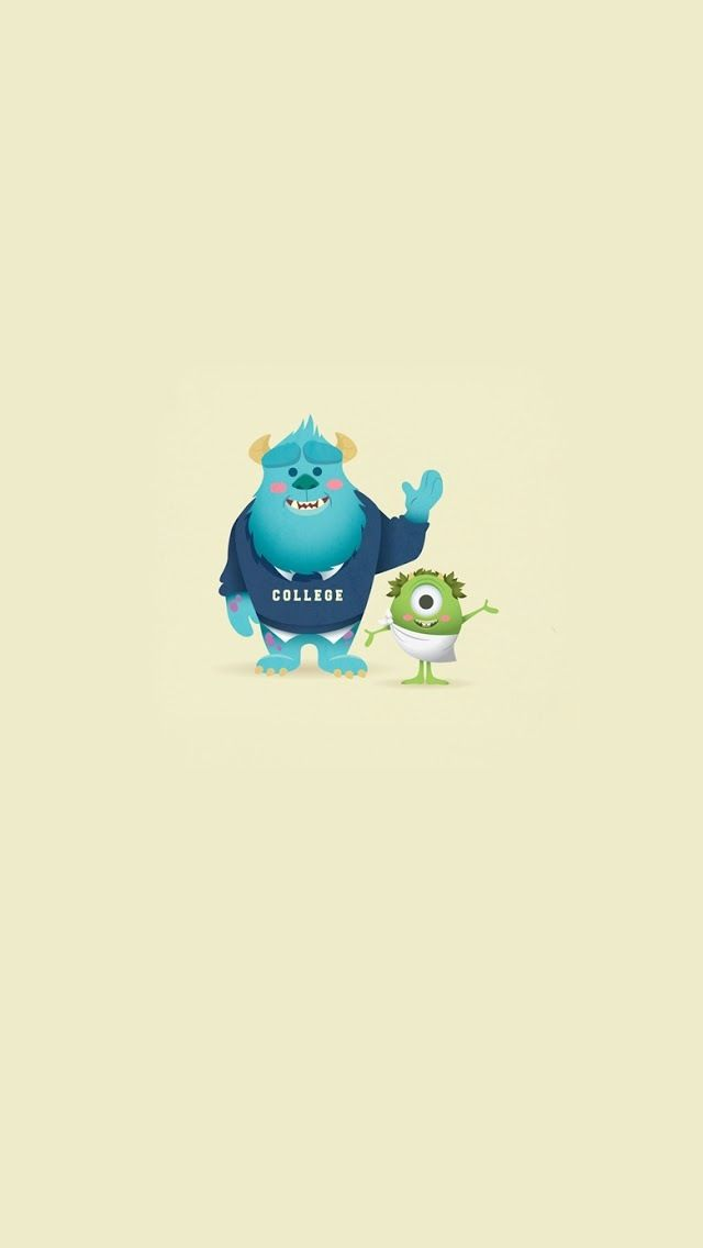 iPhone 5 Wallpaper // cartoon // Monster University monster university Pinterest Iphone 5 ...