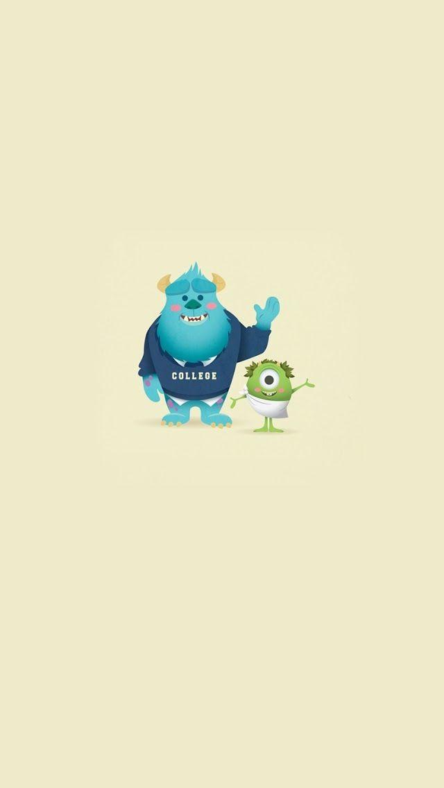 cartoon Monster In Love Wallpaper : iPhone 5 Wallpaper // cartoon // Monster University monster university Pinterest Iphone 5 ...