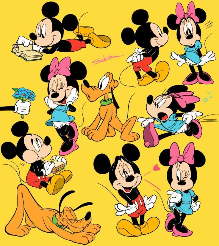 Disney Mouse Minnie Walt Drawing Cartoons Kingdom Hearts Characters Mice Cartoon Drawings