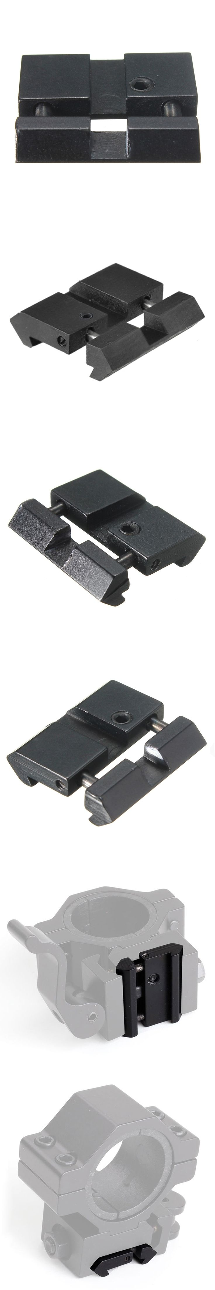 Hunting Dovetail to Weaver Picatinny Adapter Snap In Rail Adapter 11mm to 22mm Tactical Accessories Army Gear
