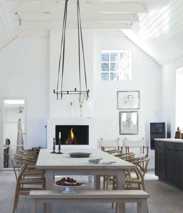 Danish Cottage. Love the table.