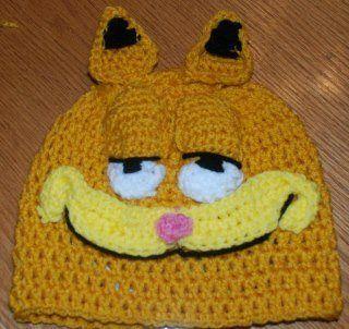 I love this crochet hat!  Garfield hat - Crochet Me