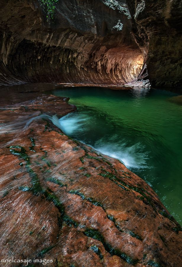 "Emerald Pool - "" RAINBOW'S END "" Subway - Zion National Park, Utah - USA"