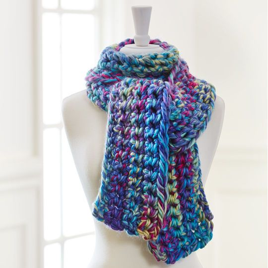 Free Crochet pattern - finger crochet a scarf This ...