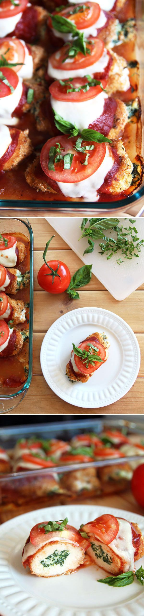 Caprese Chicken Roll Ups #chicken #caprese #recipe