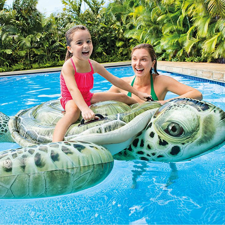 """Inflatable Swimming #Pool Ride On Inflatable #Float Realistic Sea Turtle #Intex 75"""""""