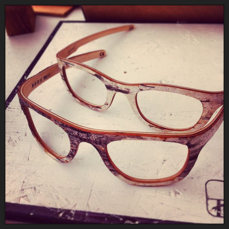 Brich tree eyeglass frames that look like they were made of birch tree by Kraa kraa. #tampereallbright #tampereblog