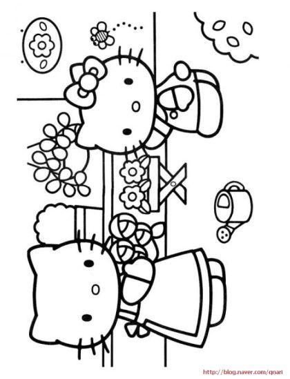 Coloriage Hello Kitty Cirque.색칠공부 Hello Kitty 네이버 블로그 Student Hello Kitty
