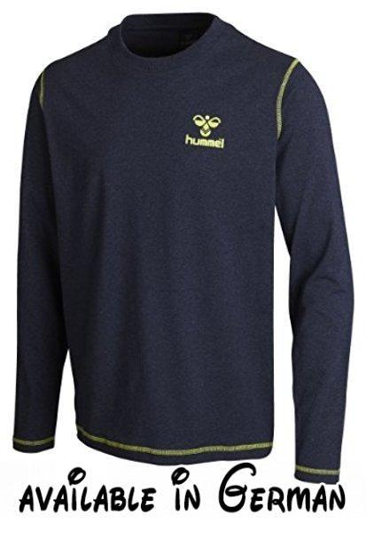 Hummel Langarm T-Shirt Classic Bee Long Sleeve Tee, Dress Blue Melange, M, 08-477-8248. Ein Longsleeve T-Shirt für den modebewussten Sportler. Skandinavisches Design. Skandinavische Sportswear #Sports #SPORTING_GOODS