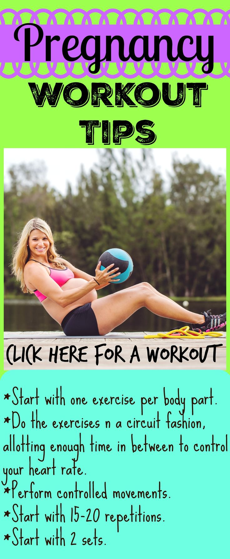 Pregnancy Exercises to help with weight gain and increase energy.  All home workouts.