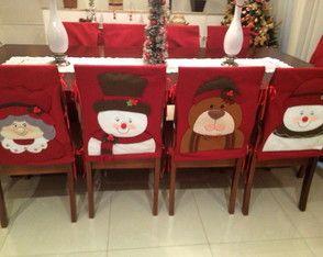 8 Capas para cadeira Natal