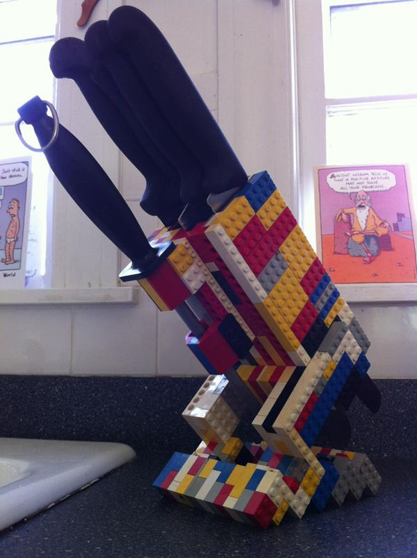 Custom-made knife block (that you should please, please keep away from children).
