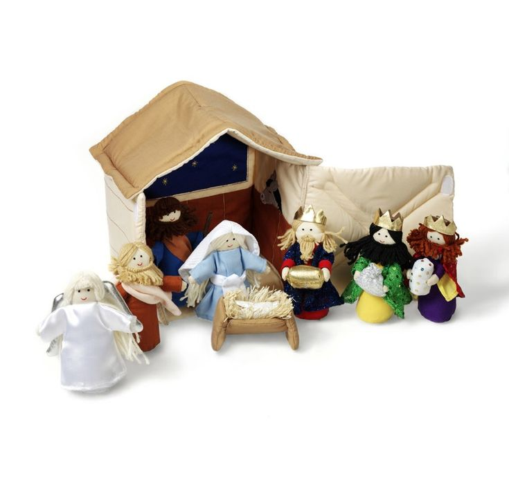 Oskar & Ellen | Christmas Soft Fabric Nativity Set | Entropy.  Read The First Christmas to Del and Eddie recently and though have told it to them before they seem to really understand and appreciate the meaning this time. #PinToWin #EntropyWishList