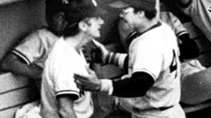 Reggie Jackson and Billy Martin have heated exchange at Fenway Park