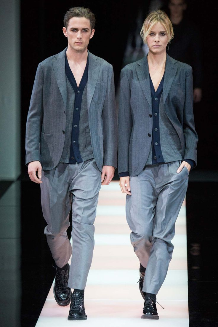 LUVLoving this androgynous his/hers/theirs from Giorgio Armani - Fall 2015 Menswear - Look 11 of 56