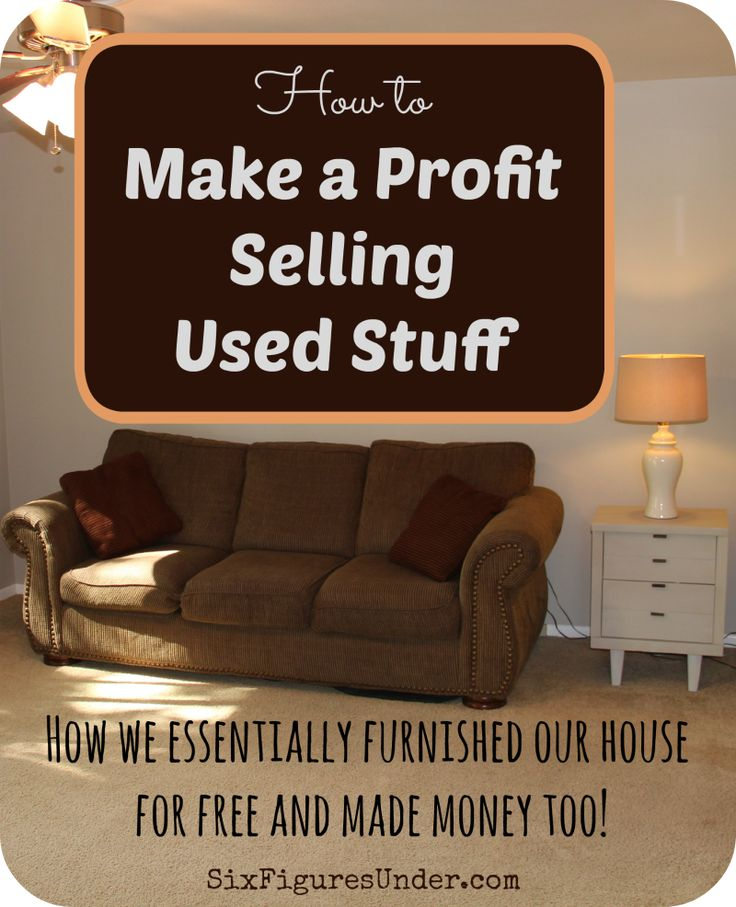 how to sell used furniture fast