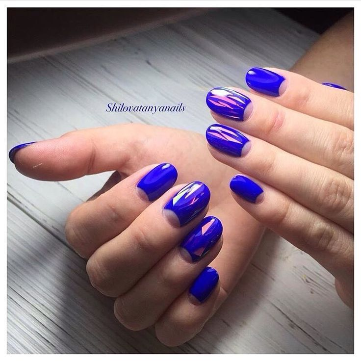 Bright moon nails, Broken glass nails, Business nails, Everyday nails, Half-moon…