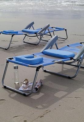 Beach essentials Beach Loungers.