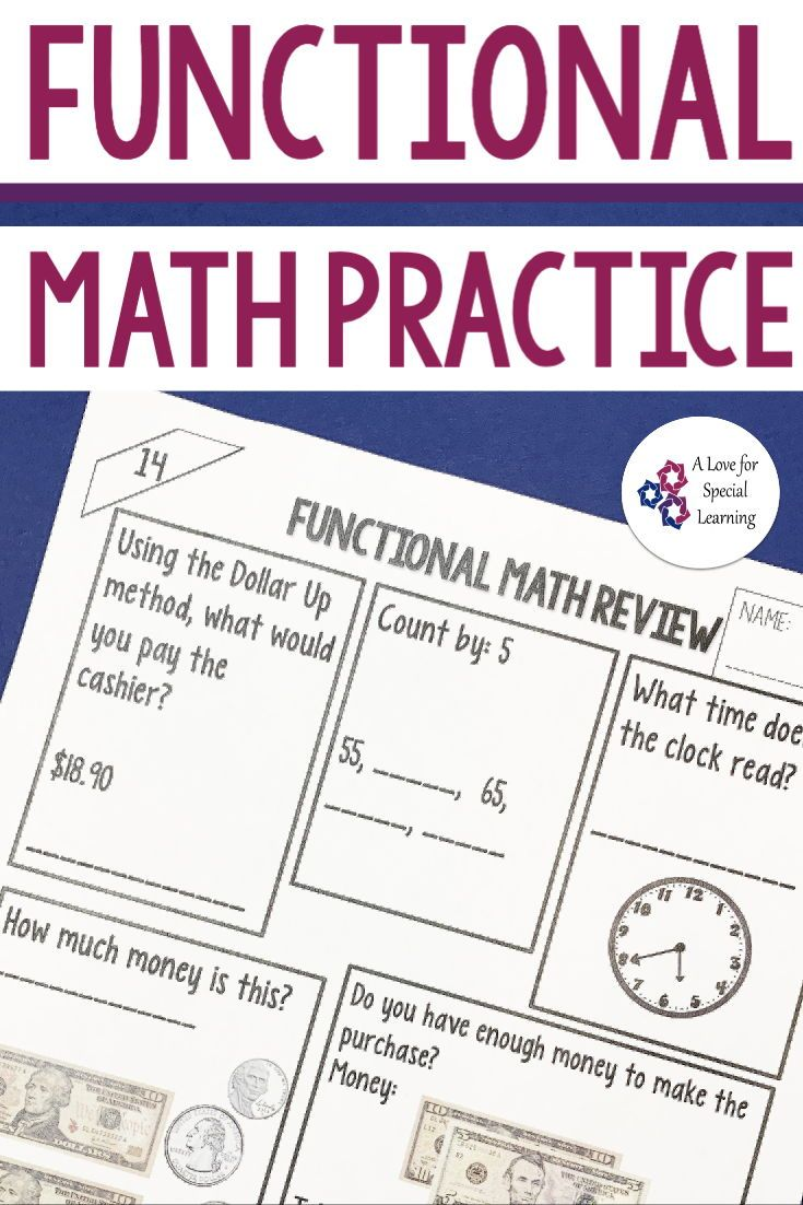 Functional Math Practice In The Classroom Special Education Math Money Math Worksheets Consumer Math [ 1102 x 735 Pixel ]