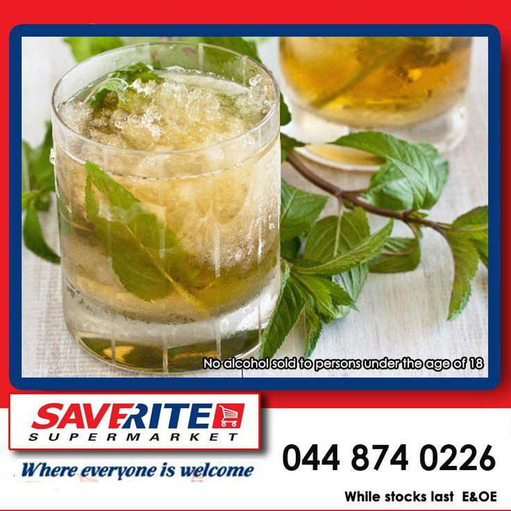 Today is National Mint Julep day. Click http://on.fb.me/1rnYXdf for a fantastic recipe. Alcohol not for sale to persons under the age of 18. #groceries #cocktail