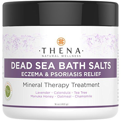 Deadsea Bath Salt With 100% Natural Colloidal Oatmeal Manuka Honey Organic Calendula Best Treatment For Eczema & Psoriasis Itch Relief Soothing Therapy Calm & Moisturize Dry Skin Rash Dermatitis