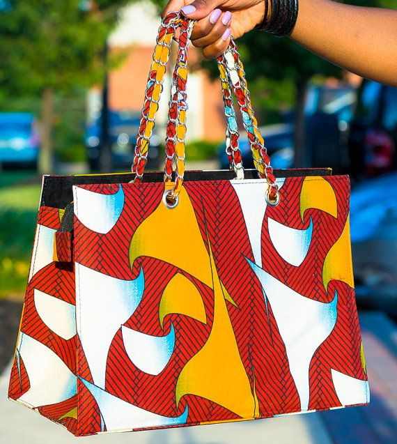 Pisces African Wax Print Tote