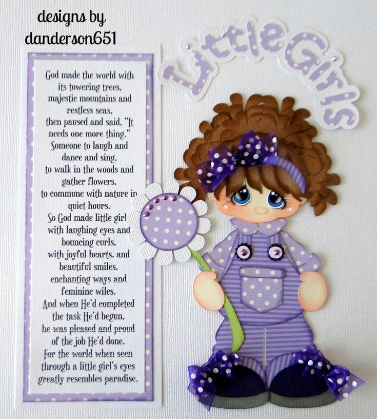 listed on ebay...danderson651 Girls, Flowers, Paper Piecing, Scrapbooking, Albums, Borders, PreMade, Embellishments facebook - danderson651 paperdesignz.com