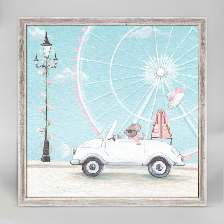 Little white convertible mini framed canvas for girls from oopsy daisy fine art