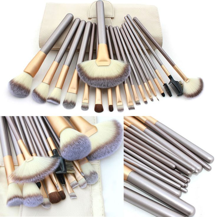 Pro 18pcs Makeup Brush Set With 3PCS Makeup Sponge Liquid Cream Foundation Cosmetic Puff Flawless Powder Smooth Shaped Puff