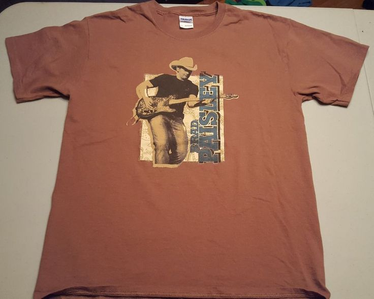 Brad Paisley Hershey's Presents The Paisley Party Tour Brown Large T-Shirt  #ildan #BasicTee