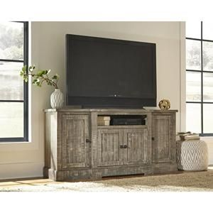"Meadow 72"" Entertainment Console in Weathered Gray 