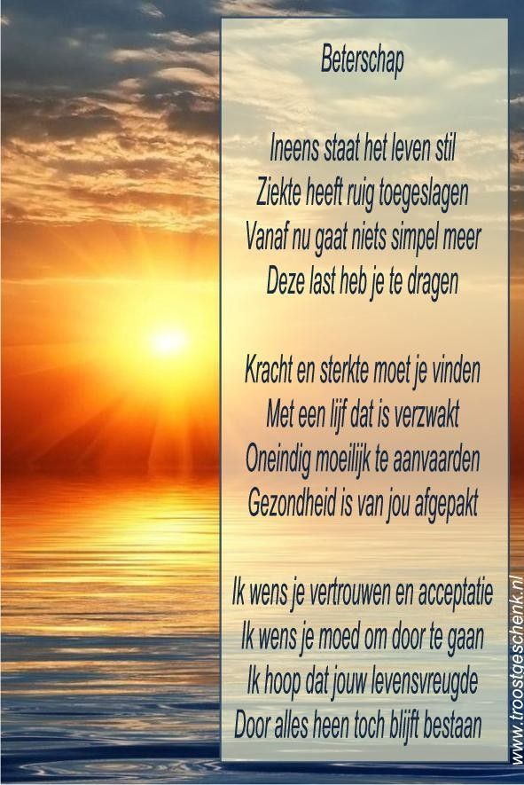 Fonkelnieuw Beterschap Gedicht Beterschap | Beterschap, Gedichten, Verdriet en IZ-88
