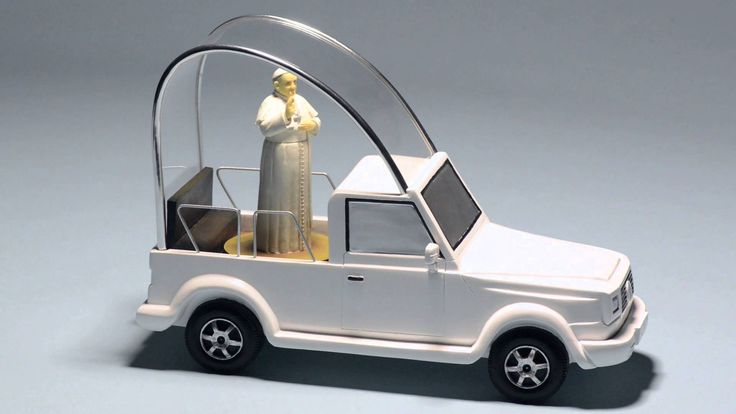 Roman Inc. introduces the Pope Mobile!  In honor of Pope Francis visiting the United States in September 2015 - we have created this awesome product just for you! The Pope Mobile is AVAILABLE NOW! Get your store ready for this amazing visit! #pope #popemobile #religious #religion #catholic #popefrancis #roman
