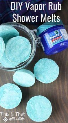 DIY Vapor Rub Shower Melts – Perfekt für Erkältungen und Staus! Super einfach zu m